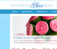 Wedding Blog Web Design - Something Blue Book
