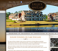 Milledgeville GA Web Design - Legacy at Sinclair