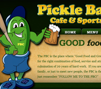 Milledgeville, Grey, Columbus GA Restaurant Web Design - Pickle Barrel Cafe