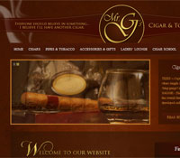 Woodstock GA Web Design - Mr. G's Cigars