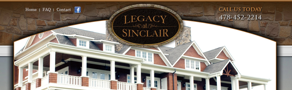 Legacy at Sinclair- Milledgeville, GA Web Design & Development