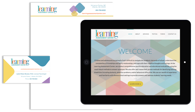 Logo Design & Website Development for Learning Assessment Center in Atlanta GA