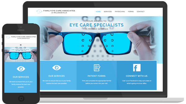 Web Design & Development for Family Eye Care in Milledgeville GA