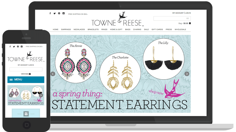 eCommerce Web Design & Development for Towne & Reese