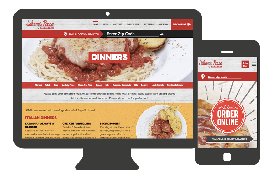 Atlanta Web Design for restaurants