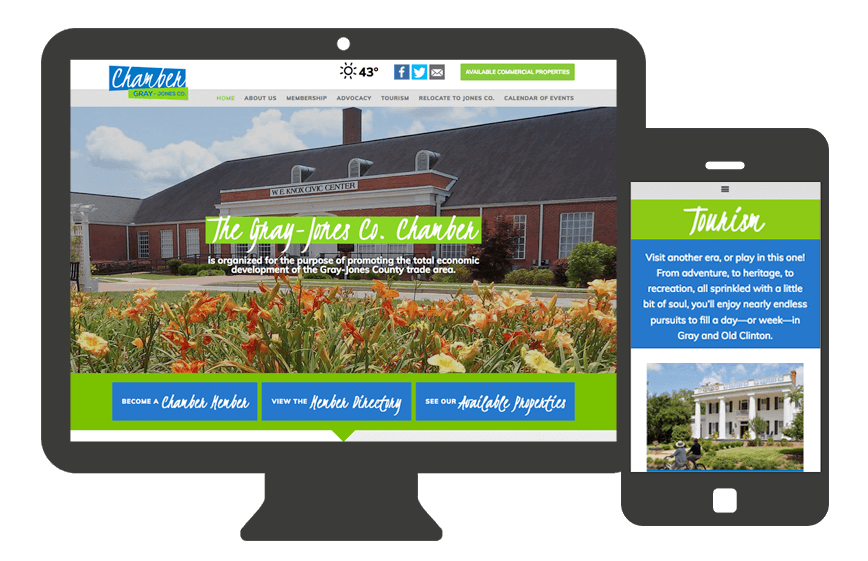 Web Design for Jones County Chamber Of Commerce