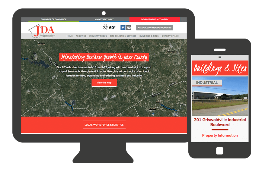 Web Design for Jones County Development Authority