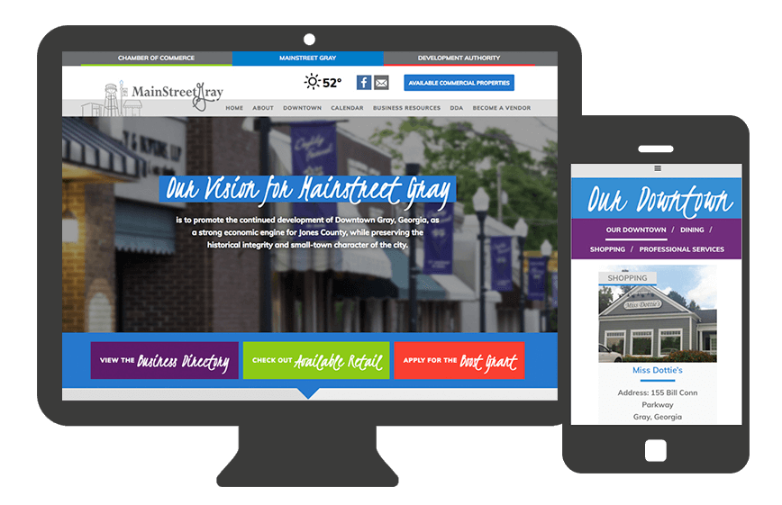 Web Design for Gray Mainstreet – Gray, Ga